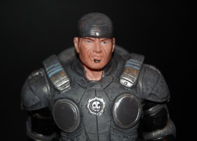 Marcus Fenix Statue Close-up